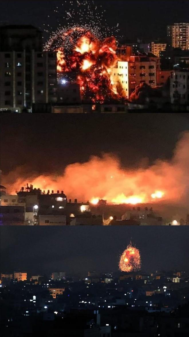 Israel tổng tấn công Gaza cả trên không, trên bộ: Trực thăng, xe tăng ồ ạt tham chiến - Chiến tranh toàn diện bùng nổ - Ảnh 1.