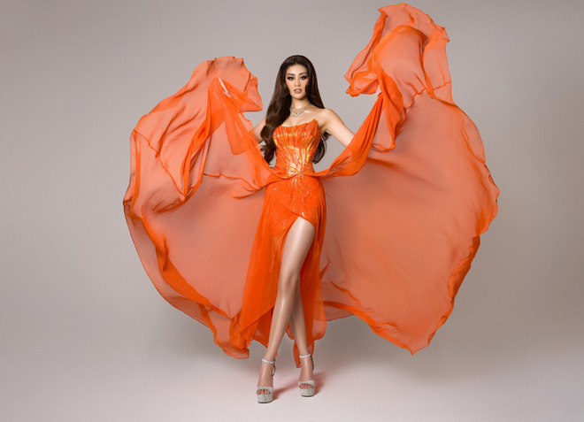 Cận cảnh bộ đồ nóng bỏng, gây ấn tượng mạnh của Khánh Vân trên sân khấu bán kết Hoa hậu Hoàn vũ Thế giới 2020 - Ảnh 4.