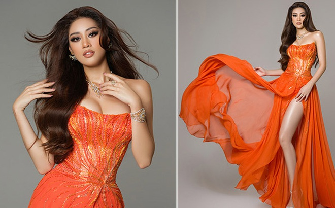 Cận cảnh bộ đồ nóng bỏng, gây ấn tượng mạnh của Khánh Vân trên sân khấu bán kết Hoa hậu Hoàn vũ Thế giới 2020