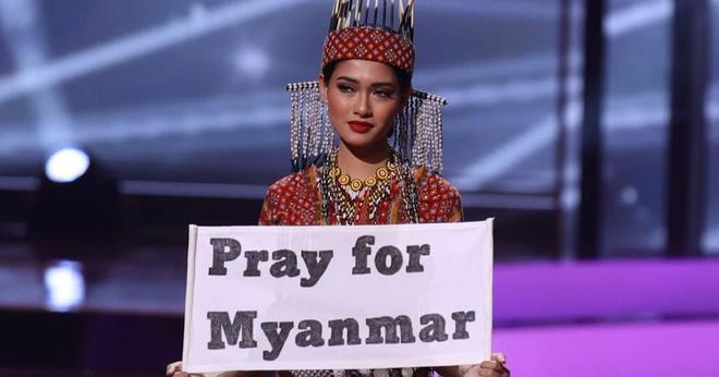 Hoa hậu Hoàn vũ Myanmar bị truy nã sau khi cầu cứu tại Chung kết Hoa hậu Hoàn vũ 2020? - Ảnh 2.