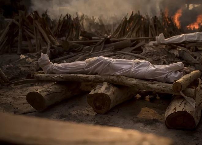 Video: Người đàn ông vác thi thể con gái 11 tuổi trên vai, đi hỏa táng ở Ấn Độ - ảnh 1