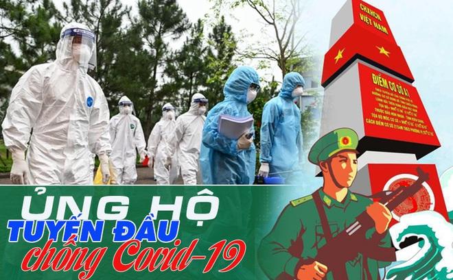 Cập nhật ủng hộ Bộ đội Biên phòng Tây Nam Bộ và CDC Bắc Giang chống dịch Covid-19