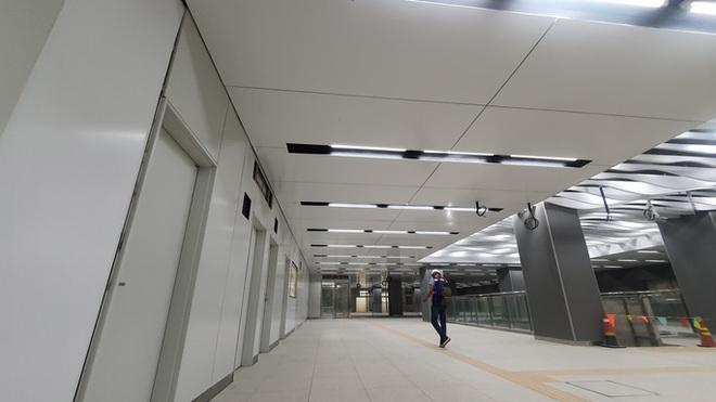 Kiến trúc ấn tượng bên trong ga Ba Son sâu 20m dưới lòng đất - Ảnh 6.