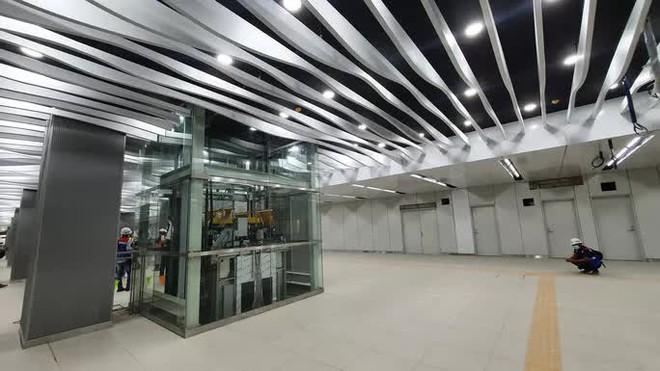 Kiến trúc ấn tượng bên trong ga Ba Son sâu 20m dưới lòng đất - Ảnh 8.