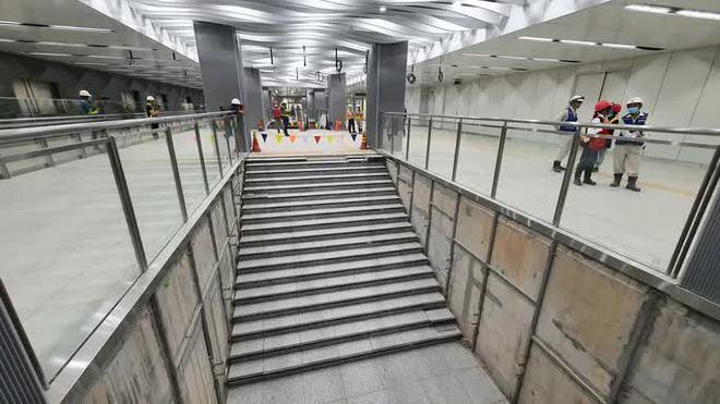 Kiến trúc ấn tượng bên trong ga Ba Son sâu 20m dưới lòng đất - Ảnh 10.