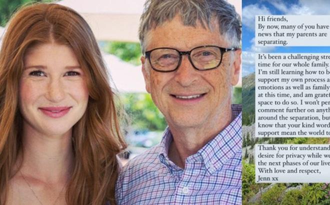 Con gái cả của Bill Gates lần đầu lên tiếng về vụ ly hôn chấn động của cha mẹ: 'Đây là khoảng thời gian thách thức đối với cả gia đình'