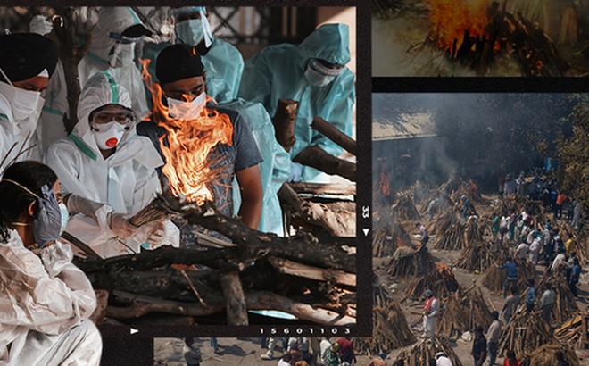Một ngày tại lò hỏa táng giữa ''địa ngục Covid'' Ấn Độ: Khi cái chết là sự thật duy nhất trong các lò hỏa thiêu đang đỏ lửa ngày đêm