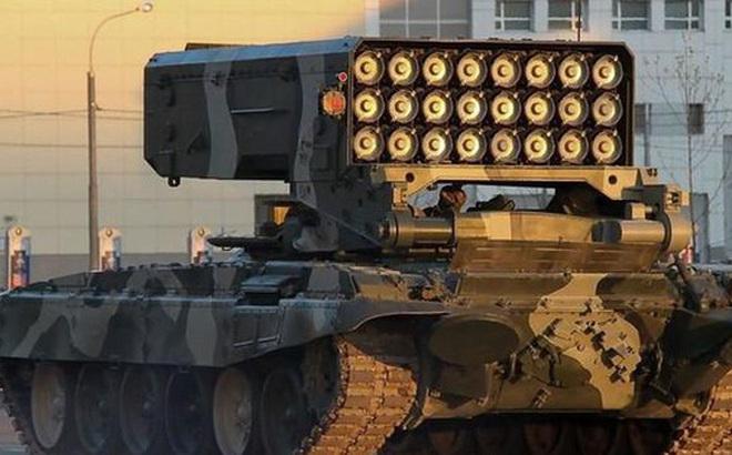 Pháo phản lực hạng nặng của Nga mất lái đâm gãy thanh chắn đường