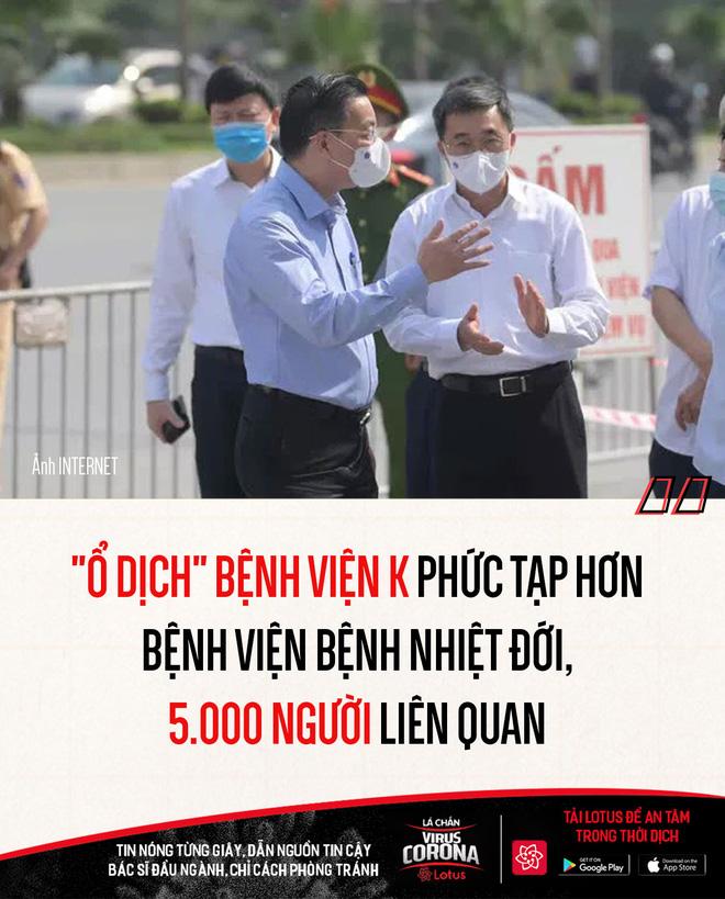 Chủ tịch Hà Nội: Ổ dịch Bệnh viện K phức tạp hơn BV Bệnh nhiệt đới; Nam Định có ca đầu tiên dương tính SARS-CoV-2 - Ảnh 1.