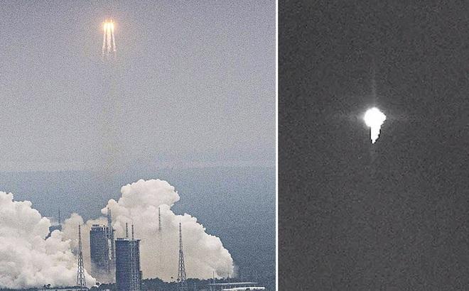 Tên lửa Trung Quốc rơi tự do: Người dân từng nghe tiếng nổ, nhìn thấy chớp ngay trên đầu