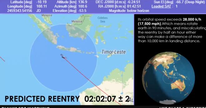 Mảnh vỡ khổng lồ của tên lửa Trung Quốc đang điên cuồng lao xuống Trái Đất: Giờ G sắp điểm - Nhiều nước báo động Đỏ - Ảnh 1.