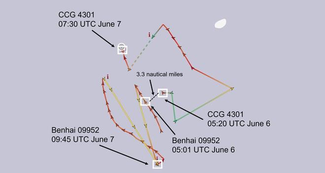Việt Nam trả lời thông tin tàu TQ và 1 tàu được cho là của VN cùng xuất hiện gần Hoàng Sa - Ảnh 1.
