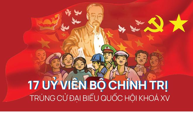 [CHI TIẾT] 17 Uỷ viên Bộ Chính trị trúng cử đại biểu Quốc hội khóa XV