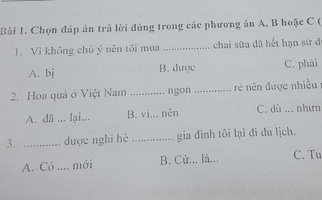 Bài thi năng lực tiếng Việt ở Nhật đọc mà sang chấn vì toàn ngữ pháp khó, đến người Việt cũng xin bó tay