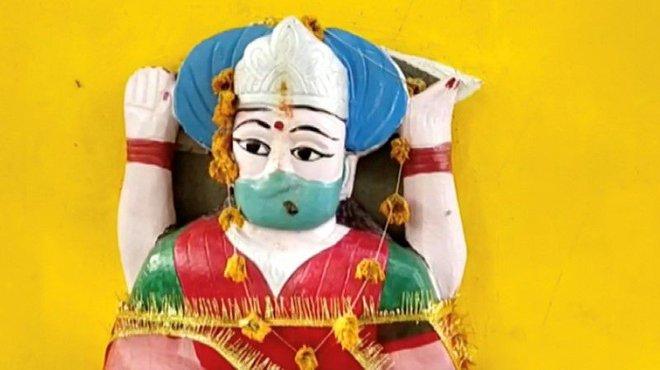 Hình ảnh mới nhất tại đền thờ thần corona ở Ấn Độ - Ảnh 3.