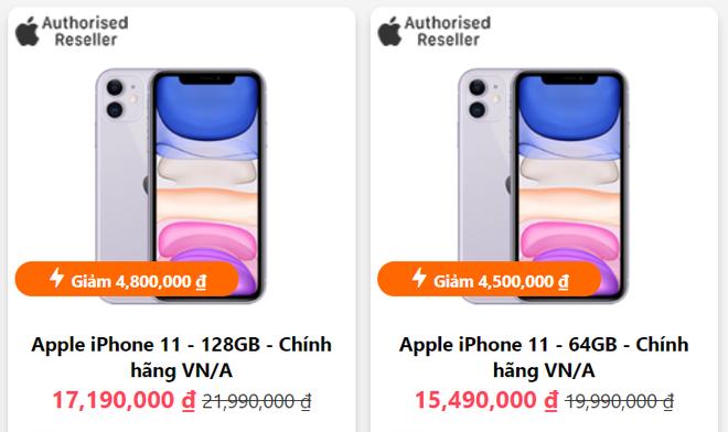 iPhone 11 giảm giá bay nóc, loạt điện thoại iPhone SE, iPhone XR bán mức cực êm ví - Ảnh 1.