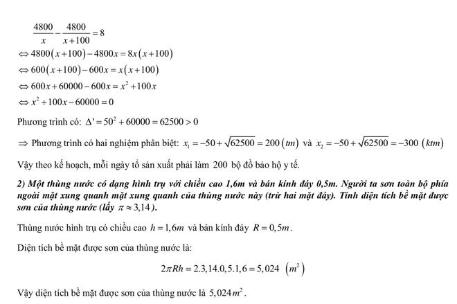 [CẬP NHẬT] Gợi ý đáp án môn Toán kỳ thi vào lớp 10 năm 2021 ở Hà Nội - Ảnh 5.