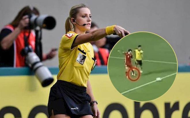 Nữ trọng tài xinh đẹp người Brazil khẳng định Văn Toàn không ăn vạ để kiếm penalty