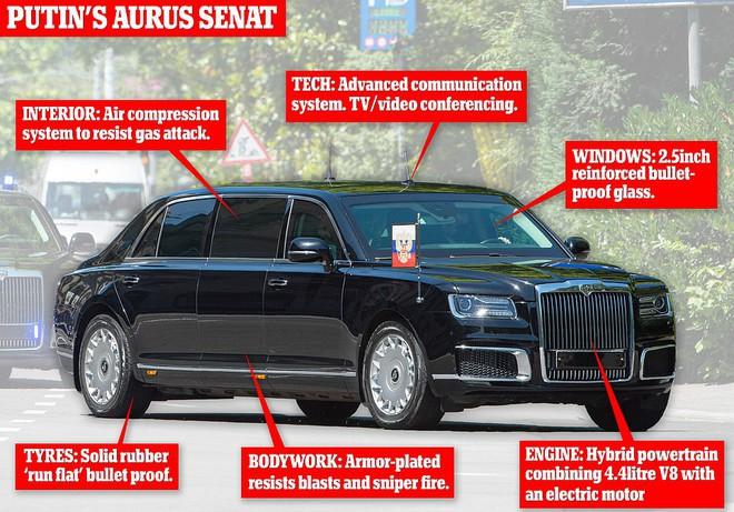 """Siêu xe """"Quái thú"""" của ông Biden và """"Rolls Royce Nga"""" của ông Putin: Xe nào vượt trội hơn? - ảnh 2"""