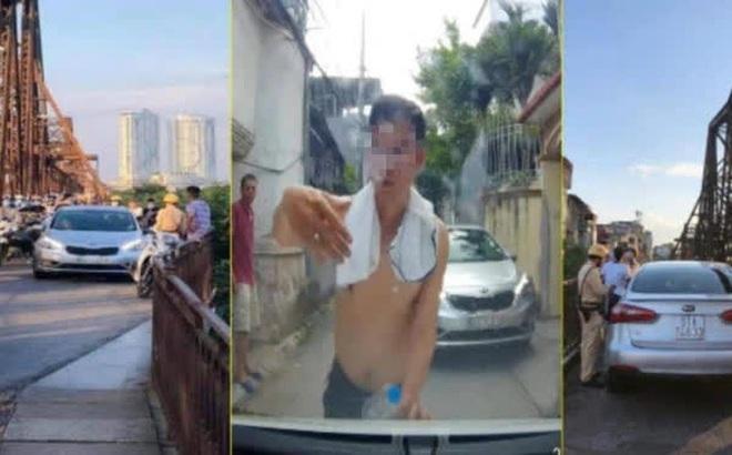 Tài xế say xỉn lái ô tô vào cầu Long Biên gây