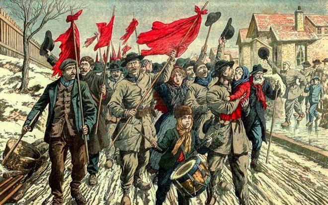Nguồn gốc và ý nghĩa của lá cờ Liên Xô có nền đỏ, hình búa liềm và ngôi sao 5 cánh - ảnh 1