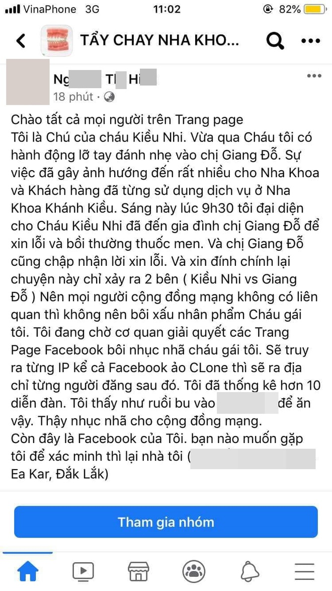Người nhà nha khoa Khánh Kiều bị khủng bố suốt đêm, chồng khách hàng bị tát kêu gọi dân mạng kiềm chế - Ảnh 4.