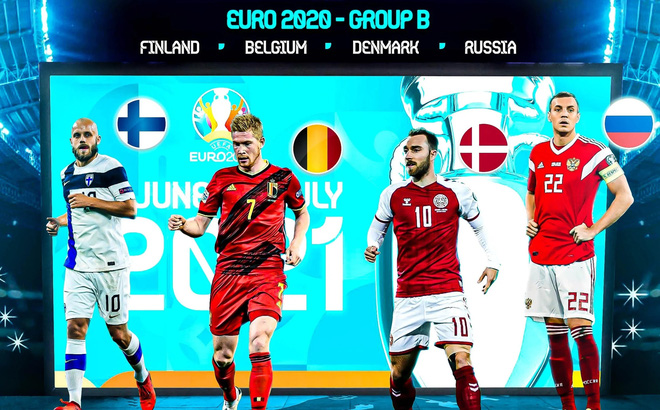 Bảng B EURO 2020: Tưởng dễ mà khó
