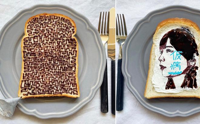 Xuýt xoa những lát bánh mì sandwich đẹp như tranh của cô gái Nhật Bản