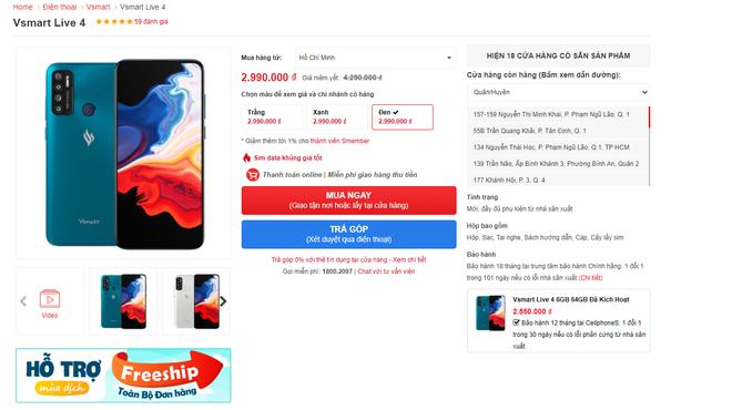 Cửa hàng vét kho giảm giá, điện thoại Vsmart pin trâu chưa đến 3 triệu, iMac M1 cháy hàng - Ảnh 1.