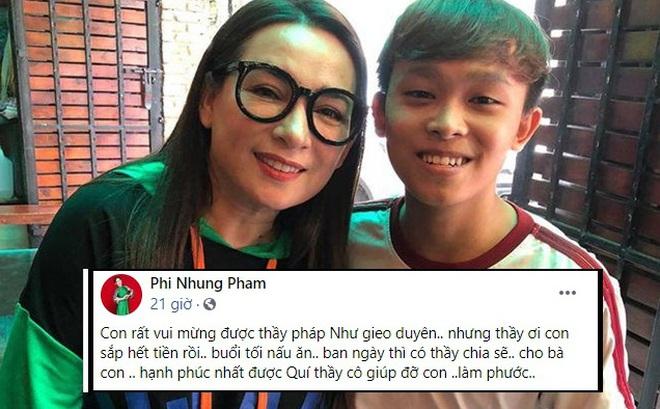 """Phi Nhung than thở """"Sắp hết tiền"""", dân mạng hoang mang: Sao chị bảo Hồ Văn Cường thi đại học xong sẽ trả nợ?"""