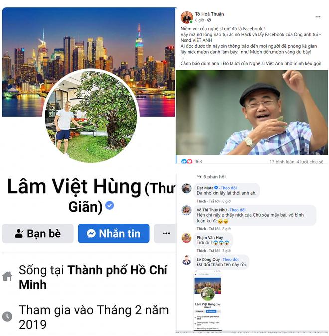 NSND Việt Anh bị hack tài khoản Facebook, phải nhờ đàn em cảnh báo điều này - Ảnh 1.