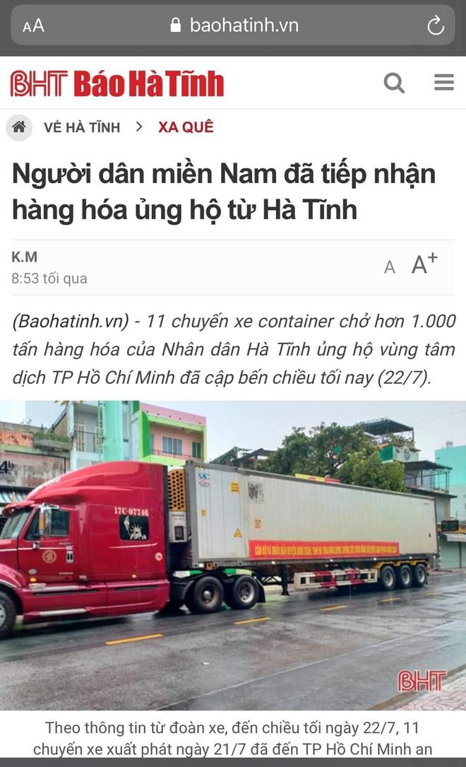 Ca sĩ Thủy Tiên lại bị mắng nhận vơ 1.000 tấn thực phẩm người Hà Tĩnh gửi tặng Sài Gòn vì dòng status ỡm ờ - Ảnh 5.
