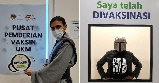 """Muôn kiểu """"lên đồ"""" sáng tạo của người dân Malaysia khi đi tiêm vaccine phòng Covid-19 - Ảnh 12."""