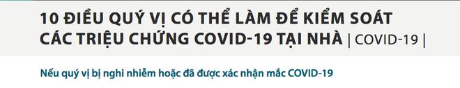 10 điều cần làm để kiểm soát các triệu chứng Covid-19 dành cho F0 đang cách ly tại nhà - Ảnh 1.