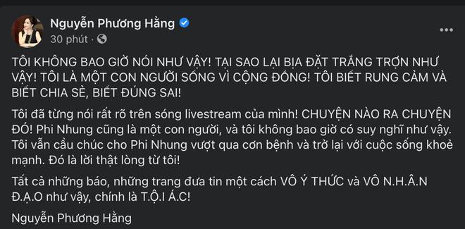 Bị đồn buông lời trù ẻo khi ca sĩ Phi Nhung đang nguy kịch, đại gia Phương Hằng bức xúc lên tiếng - Ảnh 1.