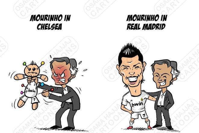 Chế - Vui - Độc: Mourinho và Ronaldo, gần thơm xa... thối
