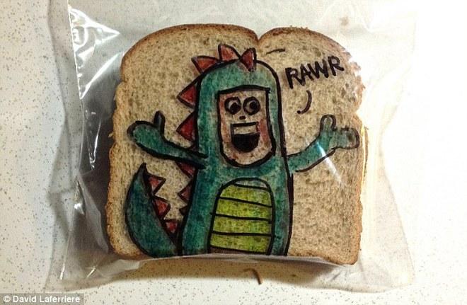 Dễ thương với những bức tranh hoạt hình trên bánh mì