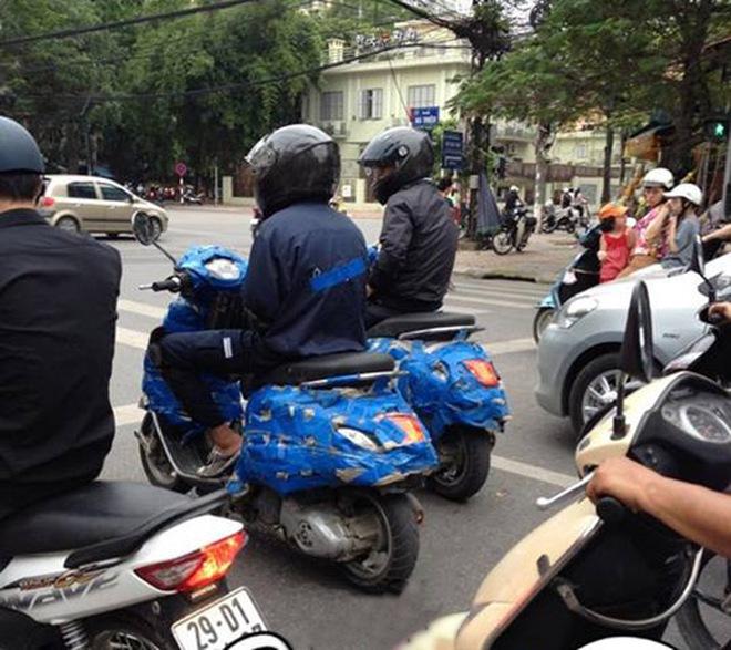 Xe ga mới của Piaggio lại lộ ảnh chạy thử tại Hà Nội