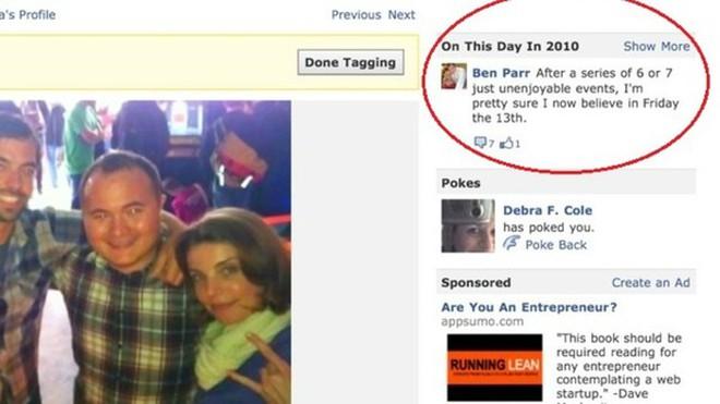 """Facebook thử nghiệm tính năng """"ngày này năm xưa"""""""
