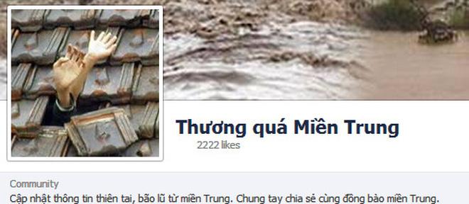 """Bão số 11: Cộng đồng mạng lập Fanpage """"Thương quá miền Trung"""""""