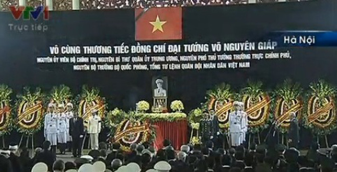 Video clip Lễ Truy điệu Đại tướng Võ Nguyên Giáp
