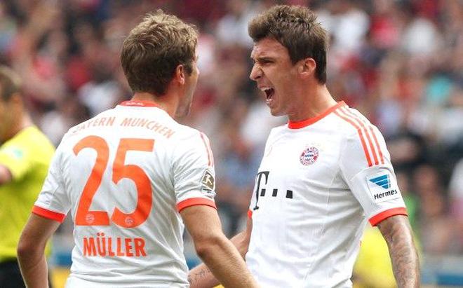 Mandzukic lập siêu phẩm, Bayern thắng nhẹ Frankfurt