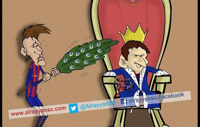 Chế - Vui - Độc: Neymar cũng chỉ phục dịch Messi mà thôi!