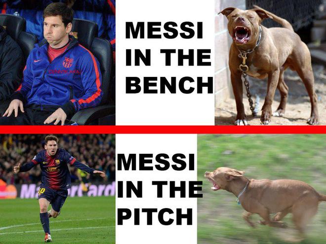 Chế - Vui - Độc: Messi làm trò kỳ quặc ngay trên sân
