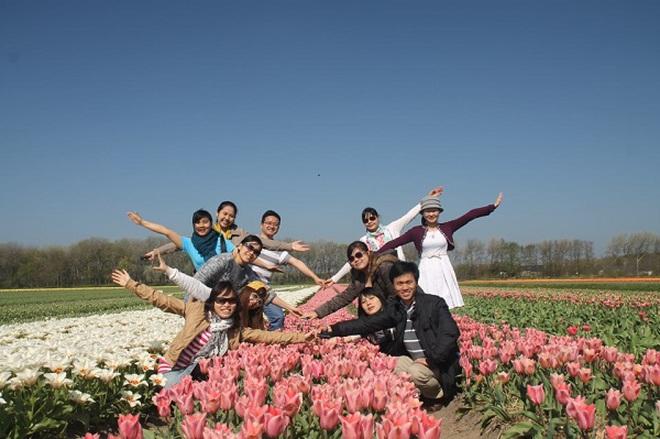 Chuyến du lịch bụi đến Hà Lan của nhóm sinh viên Việt