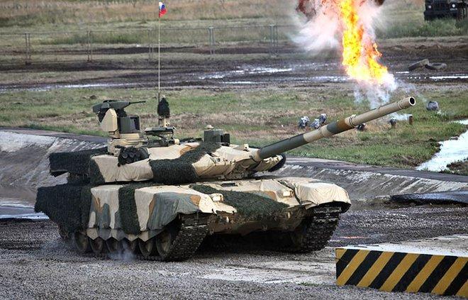 Nga tung clip 3D hoành tráng về siêu tăng T-90MS và BMPT