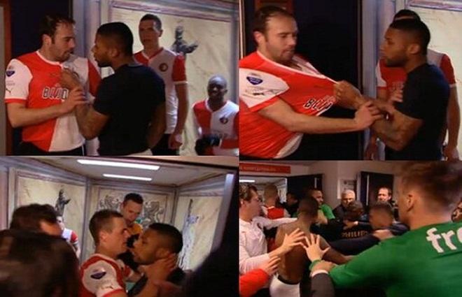 Ức chế, cầu thủ chờ đối thủ để choảng nhau ngay trong phòng thay đồ