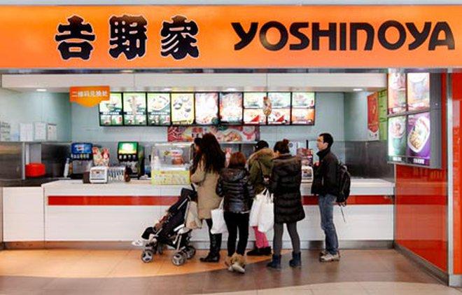 Kết quả hình ảnh cho nhà hàng cơm bò yoshinoya