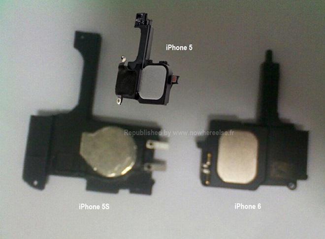 Bất ngờ rò rỉ linh kiện của iPhone 5s và iPhone 6