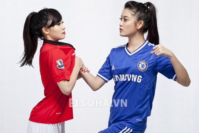 Hot girl Hà thành đại chiến vì Man United và Chelsea